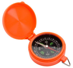 Allen 487 Pocket Compass with Lid Orange