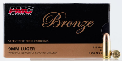 PMC 9A Bronze  9mm Luger 115 gr Full Metal Jacket (FMJ) 1
