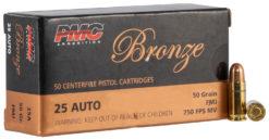 PMC 25A Bronze  25 ACP 50 gr Full Metal Jacket (FMJ) 1